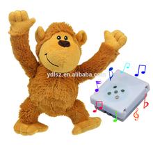 Plush toys Farting funny monkey