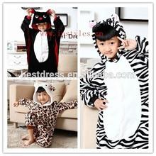 only made in china kid jumping tiger pajama children Zebra onesie