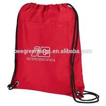 Designer Polyester Insulated Drawstring Backpack with Front Slash Pocket