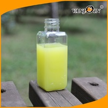 Square Plastic Pet Lemon Juice Bottle 250ml,350ml,500ml