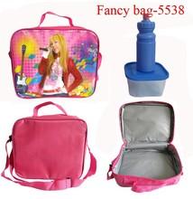 Fashionable 600D polyester food cooler bag for kids
