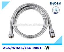 Double-lock flexible stainless steel shower hose