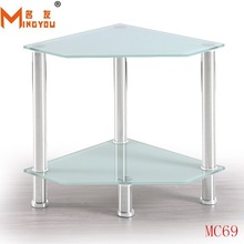 Design modern bedside stainless steel wooden square side table