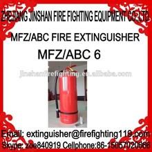 Jiangshan 6kg ABC dry powder fire extinguisher
