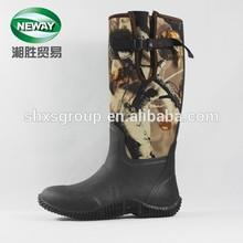 Fivela impressa ladies suave neoprene botas de pesca