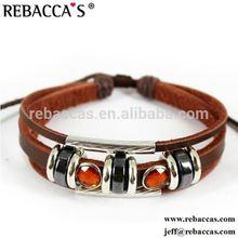 8MM Slider Letter Genuine Leather Straps Bracelet