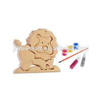 3D wooden craft puzzle lion