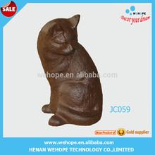 Hot selling wrought cat decoration metal cat sculptures