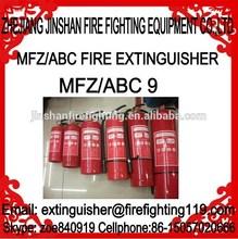 9kg 20%-80% ABC dry powder fire extinguisher