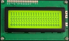 STN yellow-green type 4 x 20 Character LCD display