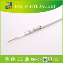 China high quality low loss 75 ohm coaxial cable rg6 braided electrical wire with competitive price