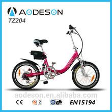 "20"" bafang 8 divertimento motore bici elettrica pieghevole, 24v 250w bici elettrica pieghevole tz204"