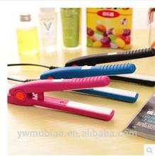 New arrival popular portable ceramic hair straightener mini hair straightener
