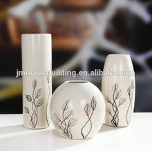 Grey and white art ceramic vase