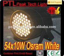 A prueba de agua 54 * 10 W LED de iluminación Par portátil