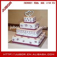 Food grade square silver foil cake base