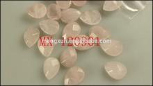 Best sale AAA+ grade perfect drop shape polish face rose quartz gem stone