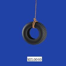 Unique Polyresin Tire Hanging Bird Feeder
