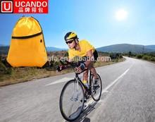 Drawstring Sports Bag /promotional drawstring bag/drawstring backpack with earphones