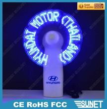 hecho en china eléctrica insignia de la impresión de plástico ventilador eléctrico