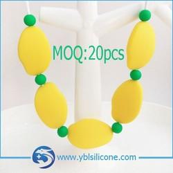 2015 New Designed Silicone Teething Necklace Wholesale/ Silicone Teething Necklace for Babies