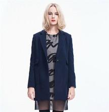 Slim collar big yards woolen coat ,maxi down coat