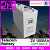 Hot selling 100ah~3000ah telecom battery, 2v 1000ah used telecom batteries for telecom system