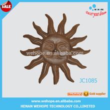 Hot selling large rising sun wall decor metal bronze sun face metal sun wall decor