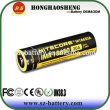 Batteries Ni 18650 battery 3.7v 2000mah c rechargeable batterie