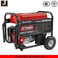 HONDA gasoline generator 5kw with wheel kit for choice
