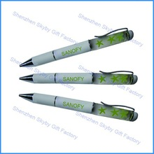 Promotion Advertising Starts Floater Liquid Filled Pen