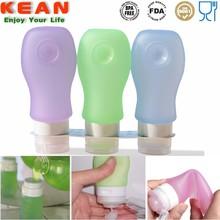 Food Safe FDA Approved Silicone Rubber Refillable Squeezable Mouthwash Bottle/Mouth Refreshner Bottle/Breath Freshner Bottle