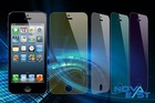 Best selling Colorful Mirror tempered glass screen protector for Iphone5/s/c wholesale