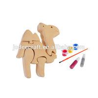 3D wooden craft puzzle camel