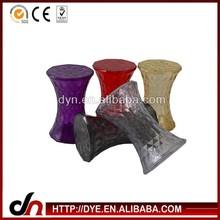2014 China wholesale modern design transparent hourglass diamond bar pc stool