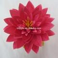 Belo lótus flores artificiais, flor de seda cabeça yzg41