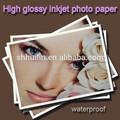 profesionales de inyección de tinta digital brillo brillante papel fotográfico de inyección de tinta para impresoras