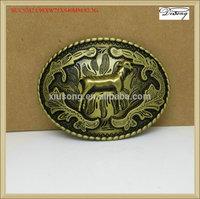 BUC9242 sheep simple oval frame gold belt buckle