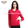 rouge cristal de noël pull en cachemire tricoté