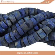 16 pollici filo perla afgha lapislazzuli pietra grezza alla rinfusa