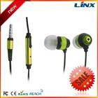 Sport earphone,earphone with mic,silicone earphone rubber cover earphones