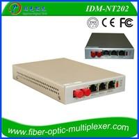80KM 2*100M Ethernet 2Ports Voice Telecommunication