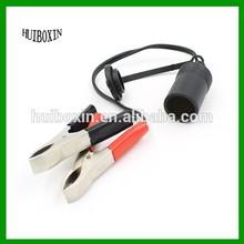 12V Car Motorbike Tractor Boat Clip-on Cigarette Lighter Socket Cable Adaptor