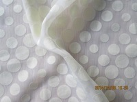T/C burn out fabric dot 65% cotton 35%polyester 3D woven fabric