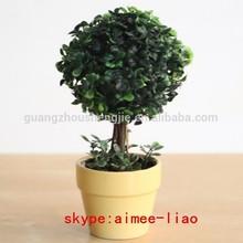 q120933 albero artificiale palla arte topiaria di plastica verde sfera artificiale arte topiaria palla di legno di bosso