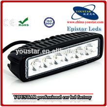 3W brand led chip 12V led worklight 18w off-road 4x4 vehicle 6'' single row led