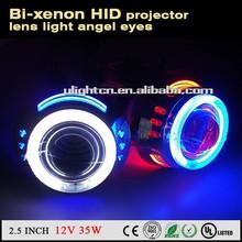 "3"" Car BI-Xenon Universal HID Projector Lens Kit ANGEL DEVIL EYE H1 H4 H7 35W HID xenon angel eyes"