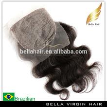 2014 wholesale virgin brazilian lace front closure cheap stock silk base closure free parting lace closure