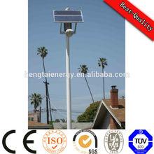 6m 30w hot deep galvanized light pole, LED soalr street light