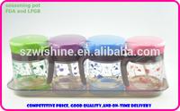 glass seasoning pot set 4pcs set